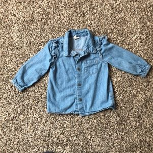 H&M Baby girl's jean button up